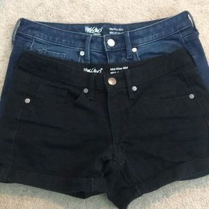 Two pairs of jean shorts from Target